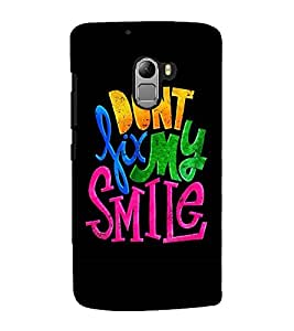 MULTICOLOURED HAPPINESS QUOTE IN A BLACK BACKGROUND 3D Hard Polycarbonate Designer Back Case Cover for Lenovo K4 Note
