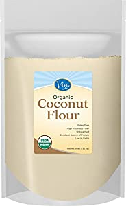 Viva Labs Organic Coconut Flour: Non-GMO, and Gluten-Free, 4 lb Bag