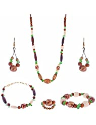 ARC 5 Piece Wooden Combo Jewellery Set (01212068)