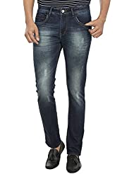 Fever Men's Dark Blue Plain Slim Fit Jeans - B01DBX46B6