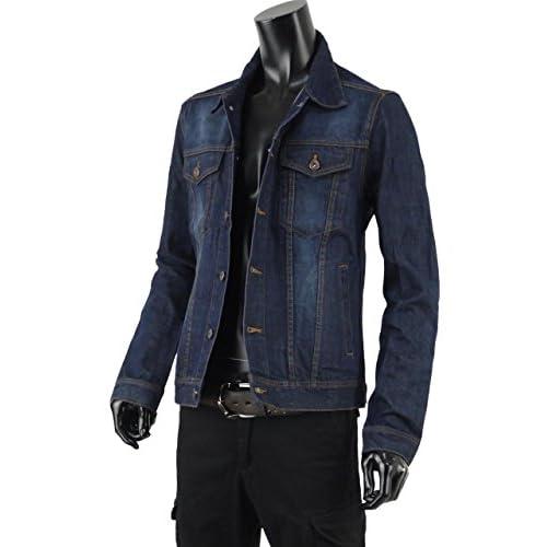 デニムジャケット メンズ Gジャン ジージャン ジャケット デニム T260724-02 ブルー M