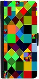 Snoogg Mosaic Tiles Polygon 2881 Designer Protective Flip Case Cover For Sams...