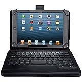 IVSO Dell Venue 8 Pro (Windows 8.1) Ultra-Thin High Quality Bluetooth Keyboard Portfolio Case - DETACHABLE Bluetooth Keyboard Stand Case / Cover for Dell Venue 8 Pro Tablet (Black)