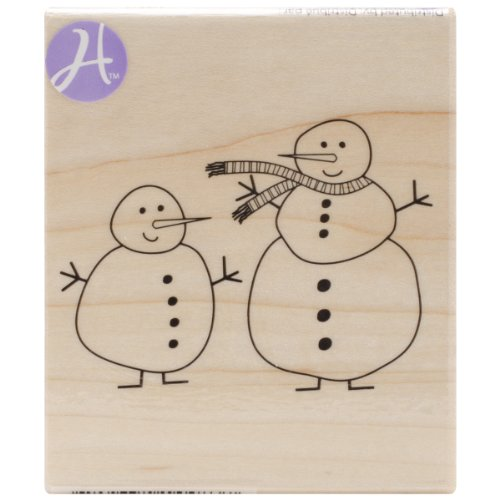 Hampton Art Jillibean-Soup Mounted Rubber Stamp, 2-1/2 by 3-Inch, Snow Pals - 1