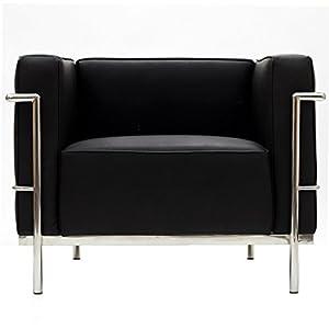 Charles Grande Armchair in Black