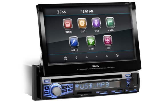 Boss Audio Bv9973 In-Dash Single-Din 7-Inch Motorized Touchscreen Dvd/Cd/Usb/Sd/Mp4/Mp3 Player Receiver With Remote