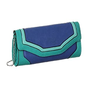 Blue Melie Bianco ''Imelda'' Color-Block Clutch