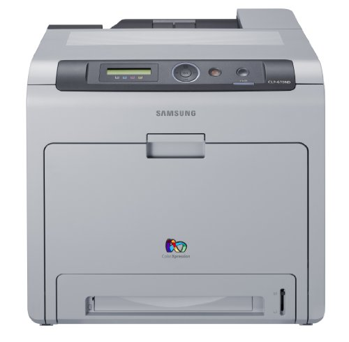 Samsung CLP-670ND - Printer - colour - duplex - laser - Legal, A4 - up to 24 ppm (mono) / up to 24 ppm (colour) - capacity: 350 sheets - USB, 10/100Base-TX