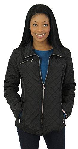 Jessica Simpson Women S Diamond Quilted Jacket Coat Black