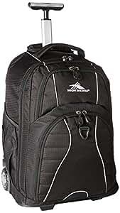 High Sierra Freewheel Wheeled Book Bag Backpack, Black,One Size