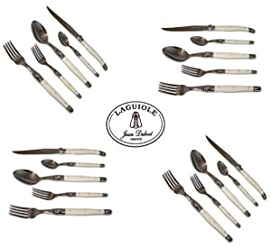 Amazon.com: French Laguiole® Dubost - Complete 20 pcs Flatware Set
