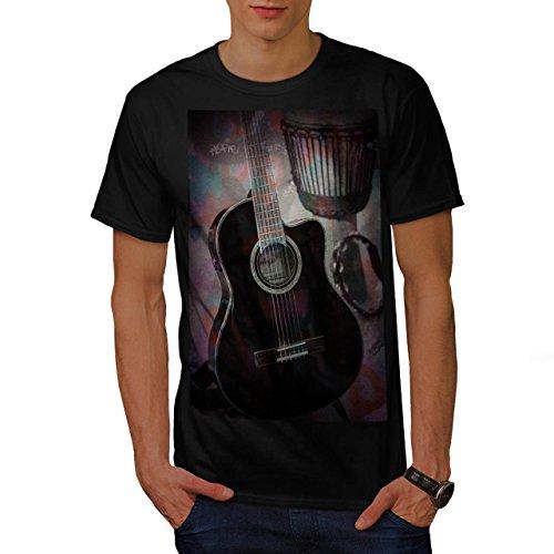 Vecchio Classico Chitarra Uomo Nuovo Nero XXL T-Shirt   Wellcoda