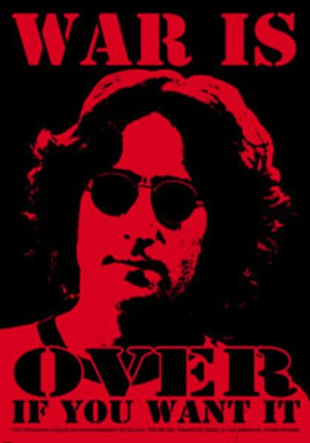 Licenses Products John Lennon War Is Over Sticker - 1