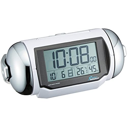 SEIKO CLOCK (세이코 clock) 자명종 전파 디지탈 대음량 PYXIS ( 피쿠시스 ) SUPER RAIDEN (슈퍼 라이덴) 백펄 NR523W-NR523W (2009-11-13)