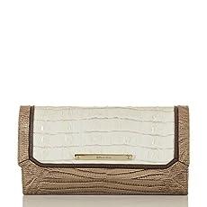 Soft Checkbook Wallet<br>Marshmallow La Scala Tri-Texture
