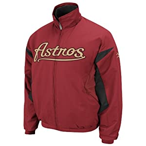 MLB Houston Astros Long Sleeve Lightweight Full Zip Thermabase Premier Jacket by Majestic