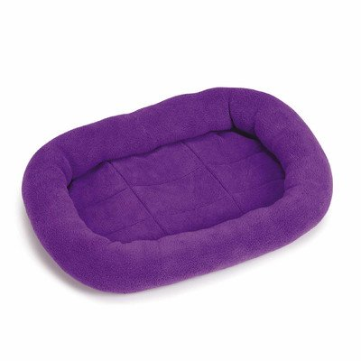 Slumber Pet Bright Terry 17 By 11-Inch Dog Crate Bed Mat, X-Small, Purple front-152368