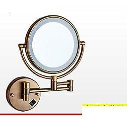 Folding IlluminatedLEDMirror/Bathroom mirror telescopic Beauty/Bathroom wall-sided magnifying mirror-D
