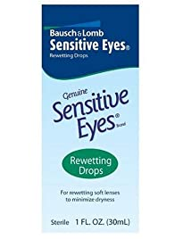 Bausch & Lomb Sensitive Eyes Rewetting  Drops 1-Ounce Bottles (Pack of 3)