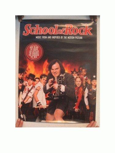 School Of Rock Poster Jack Black Led Zeppelin The Who The Doors The Ramones