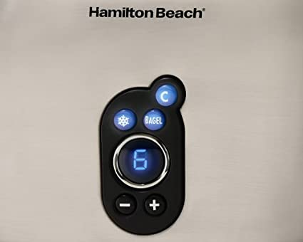 Hamilton Beach 22502 Digital 2 Slice Pop Up Toaster