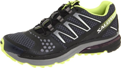 Salomon Women's XR Crossmax Guidance Training Shoe,Grey Denim/Deep Blue/Light Green Bean,7.5 M US