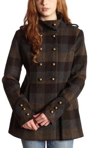 Hydraulic  Juniors Wool Blend Military Topper Coat