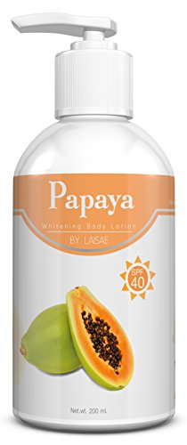 Papaya Whitening Body Lotion SPF 40 - Natural Skin Lightening - For Eliminate Dark Spots and Discoloration & Sunscreen with Kojic Acid, Alpha-Arbutin, Vitamin C - Daily Use For All Skin Types (Elure Advanced Lightening Lotion compare prices)