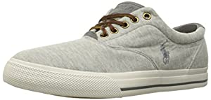 Polo Ralph Lauren Men's Vaughn Fleece Fashion Sneaker, Light Grey Heather, 10 D US