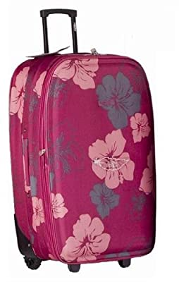"""Frenzy® 19"""" Super Lightweight Expandable Suitcase (Fuchsia) - 'Right Size, Right Weight, Right Price!' - LuggageTravelBags"""