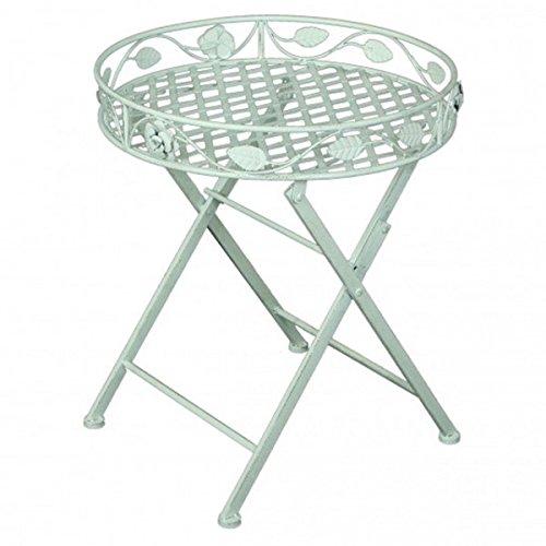 Deko Tisch mit Einfassung RUND Metall weiß lackiert Gartentisch Beistelltisch Ablage NEU günstig bestellen