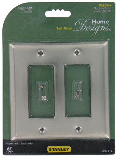Stanley Hardware 832576 Satin Nickel GFI Double Wall Plate With Screws