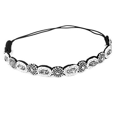 Outop Fashion Women's Crystal Rhinestone Beads Headband Hair Band