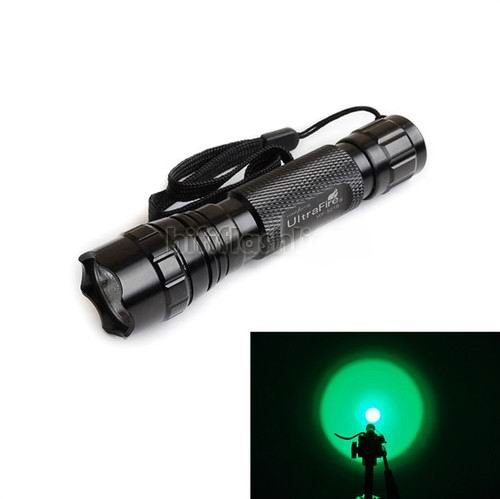 Happiness At Home® Ultrafire Cree Wf-501B 3W 150Lumens 1Mode Led Flashlight G60 Green Light Torch