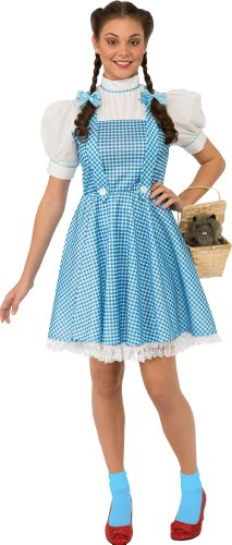 Rubie`s Costume Wizard Of Oz Adult Dorothy Dress and Hair Bows, Blue/White, Large