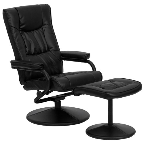 We have 2 of these black leather recliners in our office