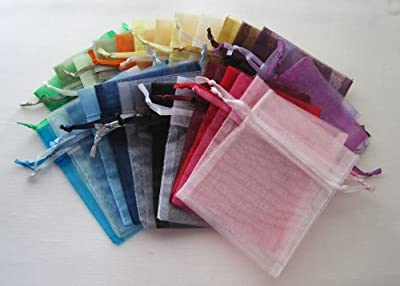 MyCraftSupplies Premium Quality Organza Bags 12x14 Inch 10-Pack for Gifts and Storage