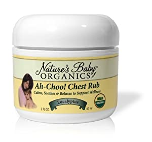 Nature's Baby Organics Organic Ah-Choo! Chest Rub, Eucalyptus, 2-Ounce Jars (Pack of 2)