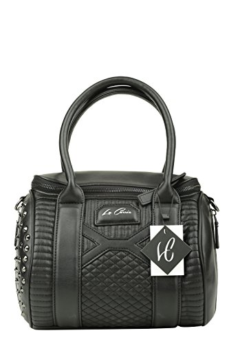 LA CARRIE BAG Borsa Biker Bauletto Ecopelle Nero Art 162-D 963 A16