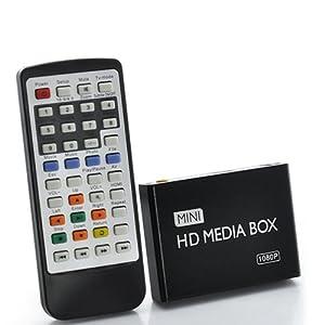 1080P HD USB HDMI SD/MMC Multi TV Media Player w/Remote Control