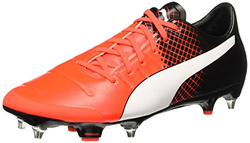 Puma Evopower 2.3 Mx Sg, Scarpa da Calcio Man (Football), Red Blast/Bianco/Nero, 11 EU