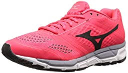 Mizuno Women\'s Synchro MX Running Shoe, Pink/Black, 9.5 B US