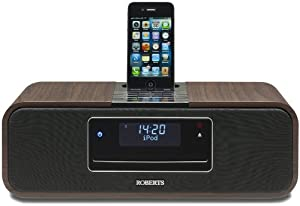 Roberts Sound100 CD/DAB/FM Digital Sound System with Dock for iPod/iPhone walnut (discontinued by manufacturer)