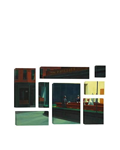 "Edward Hopper ""Nighthawks, 1942"" 8-Piece Canvas Print Set"