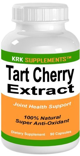 1 Bottle Tart Cherry Extract 900mg Per Serving 90 Capsules KRK Supplements (Dark Cherry Juice Concentrate compare prices)