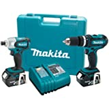 Makita LXT211 18-Volt LXT Lithium-Ion Cordless 2-Piece Combo Kit
