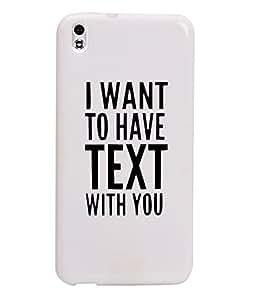 KolorEdge Back Cover For HTC Desire 816 - White (1034-Ke15161HTC816White3D)