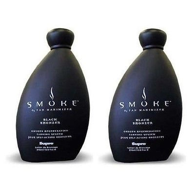 Lot of 2 Bottles Supre Smoke Black Bronzer Indoor Tanning Bed Lotion 10.5 Oz by Supre