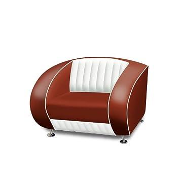 Belair - Sofa retro diner sf-01cb, color granate