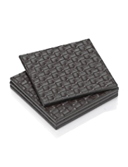 4 Textured Square Coasters